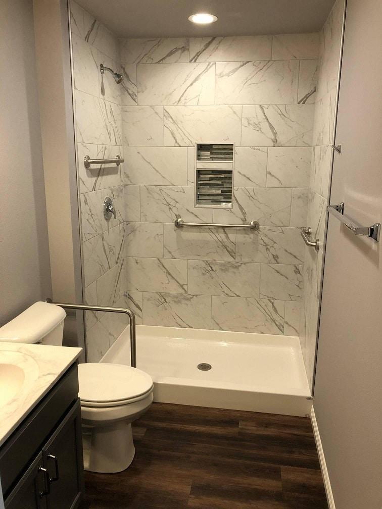 Wausau home shower 1